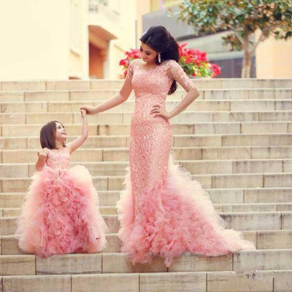 Matching Mother and Daughter Mermaid Dress