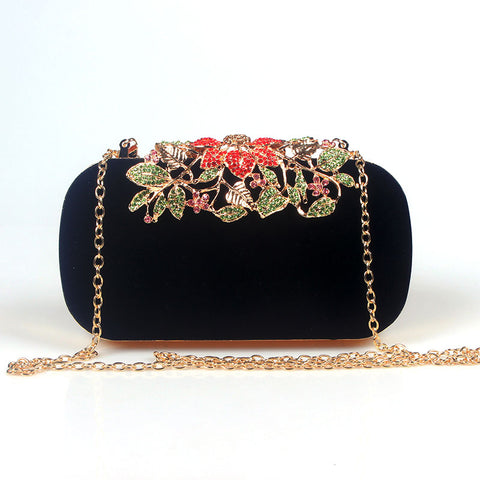 Flower Rhinestone Crystal Diamond Handbag