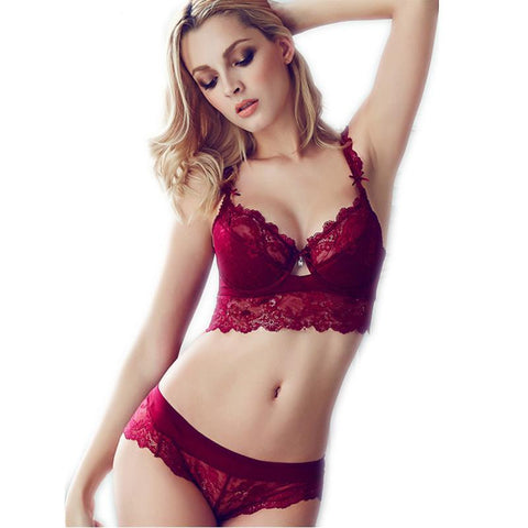 Transparent Bra Romantic Temptation Lace Bra Set