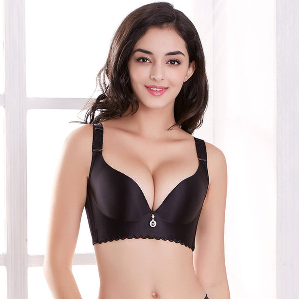 Diamond seamless push-up Bra big size