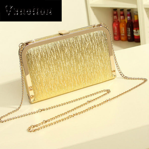 Fashion Evening Party Gold Silver Shimmering Purse