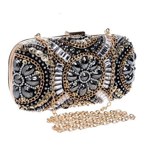 Crystal Evening bag Retro Beaded Clutch Bag