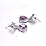 Handmade Butterfly Spessartine Garnet Water Drop Jewelry Set