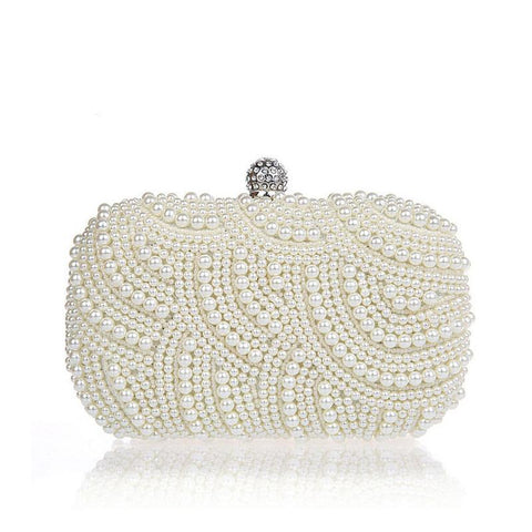 Pearl Diamond Evening Tote Party Bag