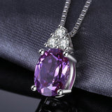 Classic 7ct Created Alexandrite Ring Pendant Necklace Drop Earrings Jewelry Set 925 Sterling Silver