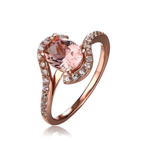 Pink Sapphire Ring Rose Gold Color Ring