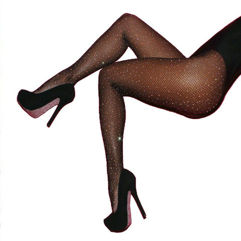 Sexy Women Fishnet Stockings Shiny Crystal Rhinestone Mesh Stocking Tights