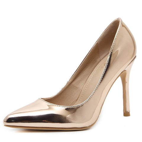 Concise Patent Leather Woman High Heels