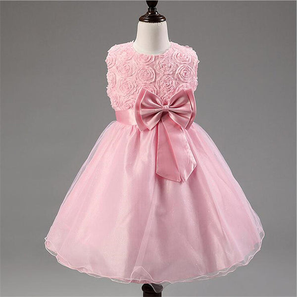 Lace up Butterfly A-line Ankle Length Flower Girl Dress