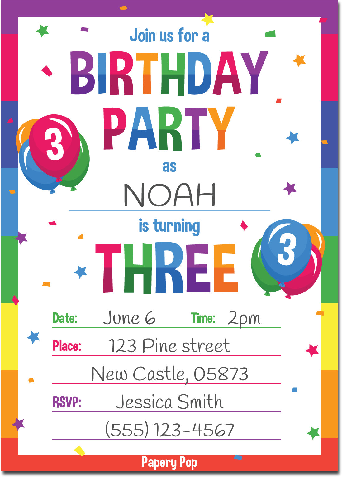 3 year old birthday party invitations with envelopes 15 count 3 year old birthday party invitations with envelopes 15 count kids birthday invitations stopboris Choice Image