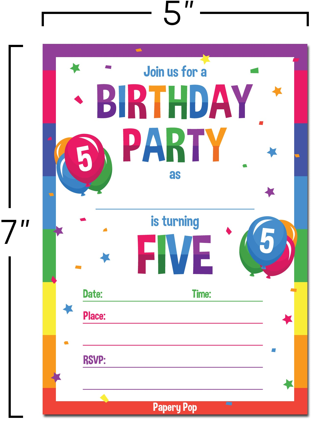5 year old birthday party invitations with envelopes 15 count 5 year old birthday party invitations with envelopes 15 count kids birthday invitations filmwisefo