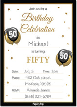 50 Year Old Birthday Invitations with Envelopes (30 Count)