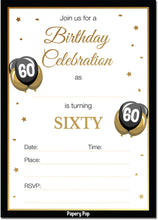 60 Year Old Birthday Invitations with Envelopes (30 Count)