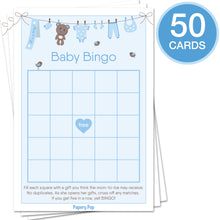 Baby Shower Games for Boys - Set of 5 Activities - (250 Cards Total, 50 Per Game) - Baby Shower Supplies