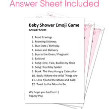 Baby Shower Emoji Game Cards (Pack of 50) - Baby Shower Games for Girls - Party Activities Ideas Supplies