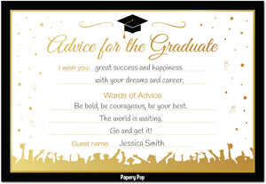 Graduation Advice Cards for The Graduate (50 Pack) - Graduation Party Games Ideas Activities Supplies - Grad Celebration - High School or College