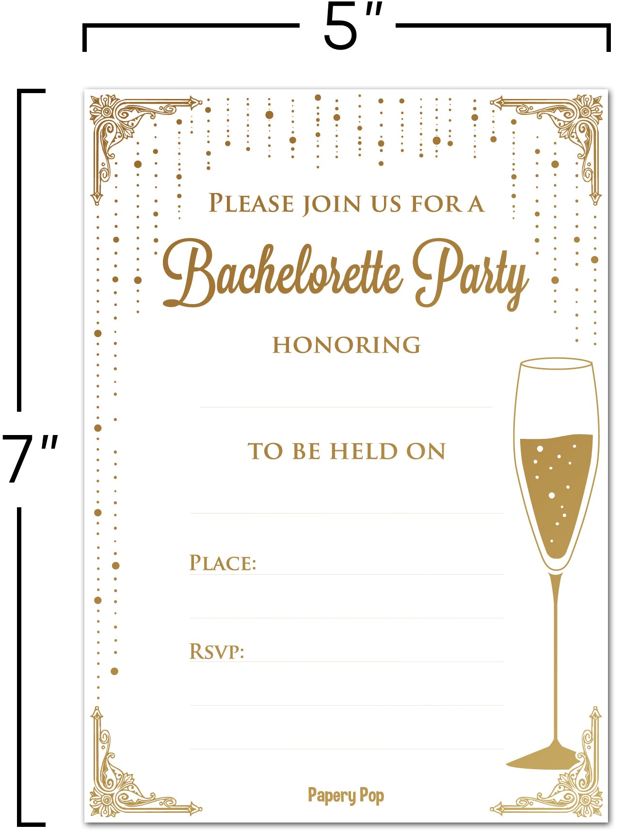 30 Bachelorette Party Invitations with Envelopes - Girl\'s Night Out ...