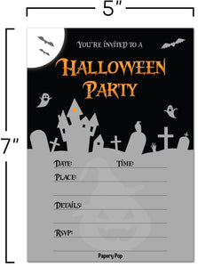 30 Halloween Party Invitations with Envelopes