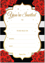 30 Invitations with Envelopes - Any Occasions - Bridal Shower, Wedding Shower, Bachelorette Party, Birthday Party