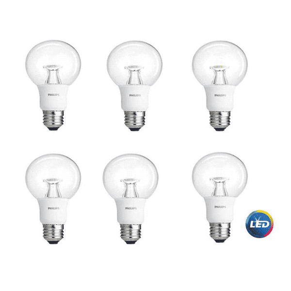 G25 PHILIPS 10W DIMMABLE Globe WARM WHITE INDOOR (6 PACK)