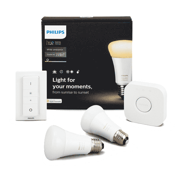 A19 Philips Hue Starter Kit White Ambiance