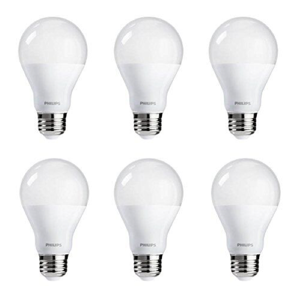 A19 Philips 9W Dimmable Warm White Indoor (6 Pack) image 742193299500