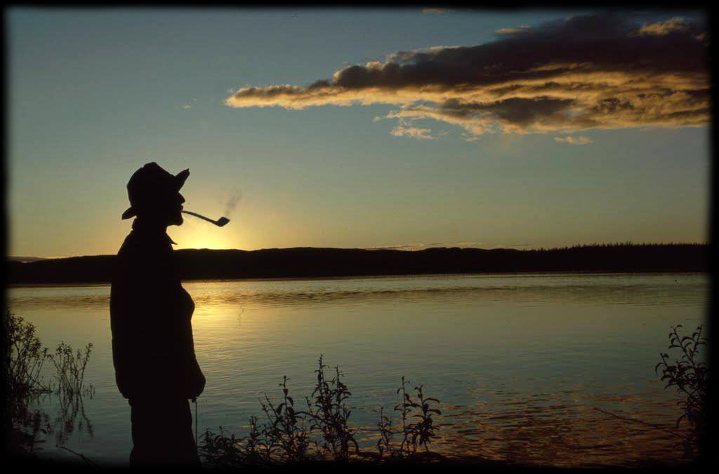 Enjoying a sunset on the lake with a Ranger Pipe!