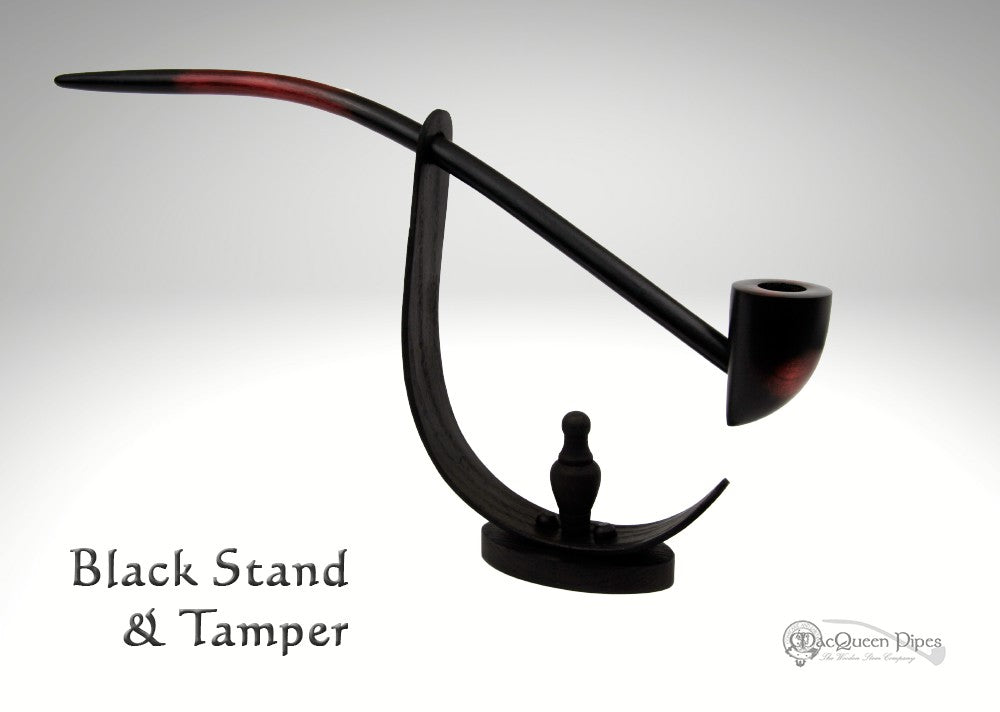 Black Pipe Stand & Tamper (In-Stock) MacQueen Pipes