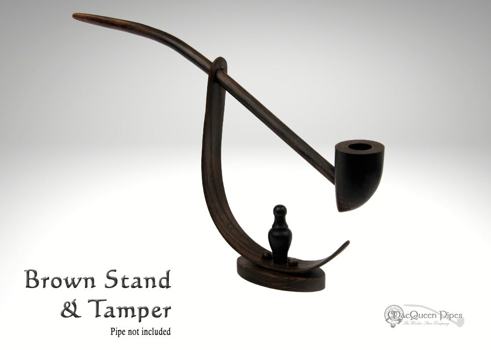 Brown Pipe Stand & Tamper MacQueen Pipes