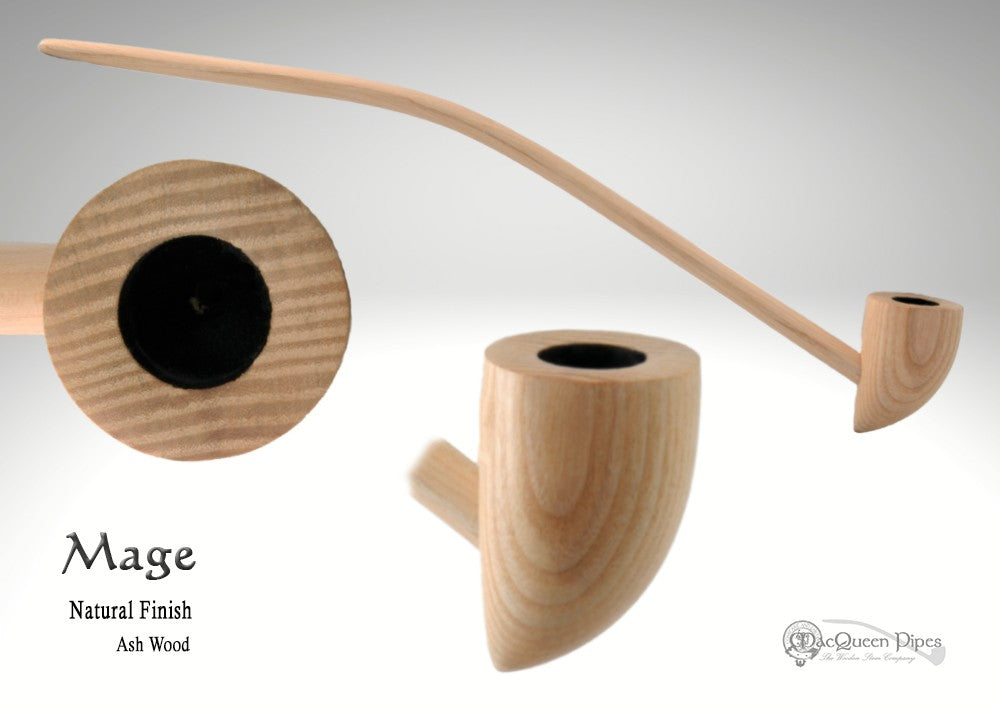 Mage Pipe and Natural Stand MacQueen Pipes