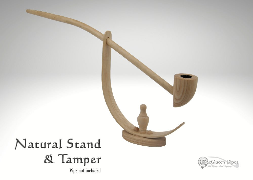Natural Pipe Stand & Tamper MacQueen Pipes