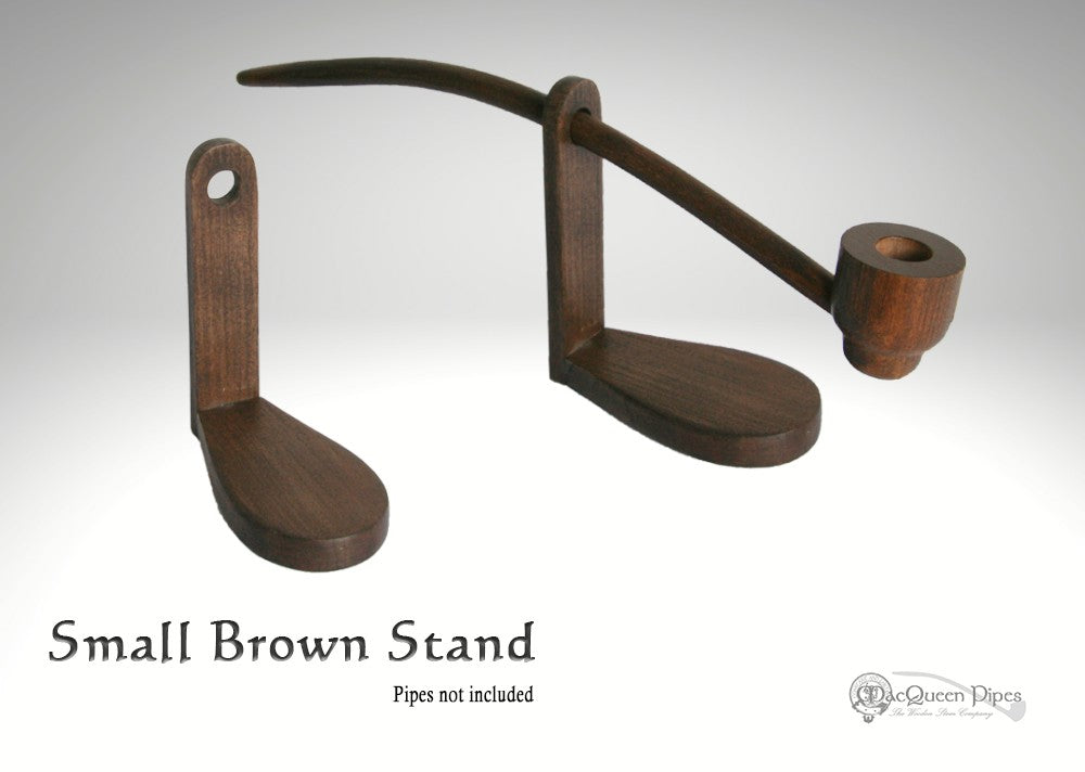 Small Brown Pipe Stand MacQueen Pipes