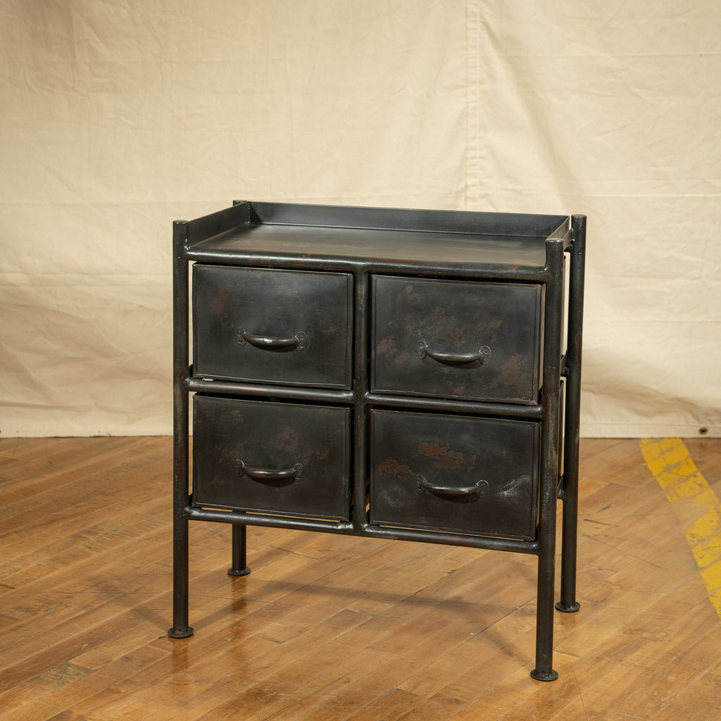 Industrial Side Table #5, Black - Royal Circus