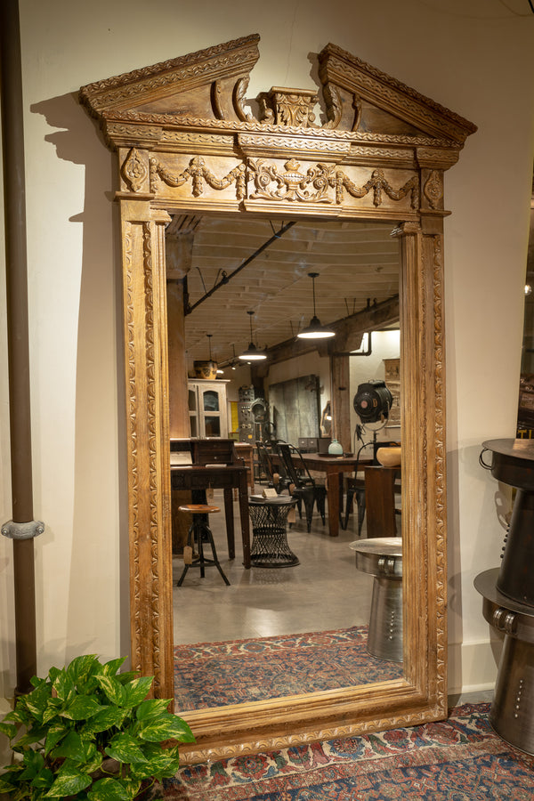 Grand Palace Wood Mirror, Sun Bleach Limewash - Royal Circus