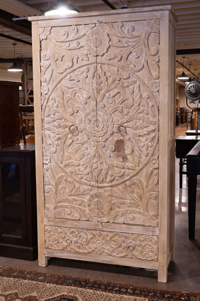 Floral Carved Armoire_Royal Circus