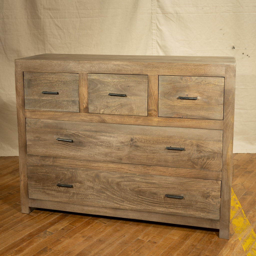 Mango 5 Drawer Chest, Graphite_Royal Circus