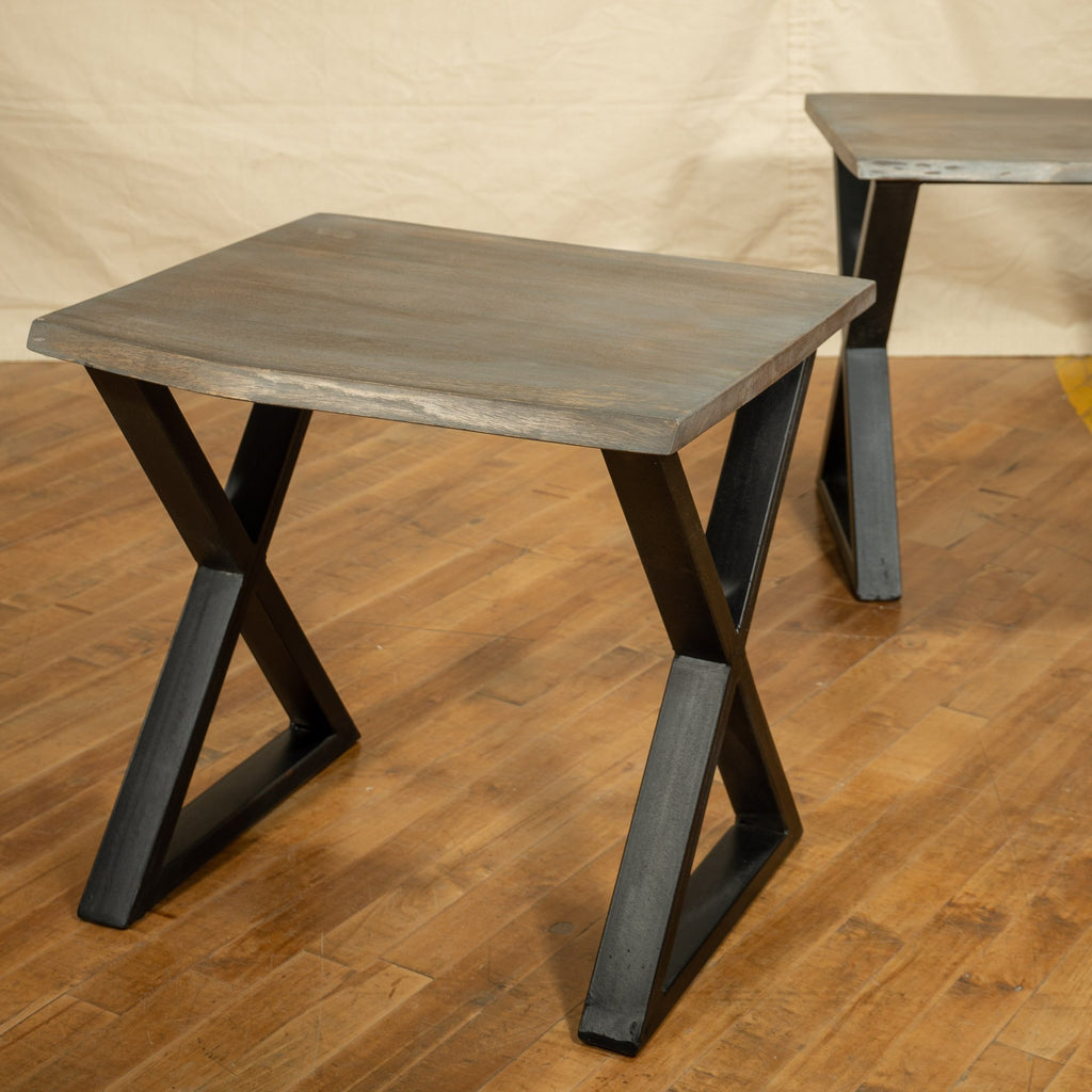 Live Edge Side Table, Graphite - Royal Circus