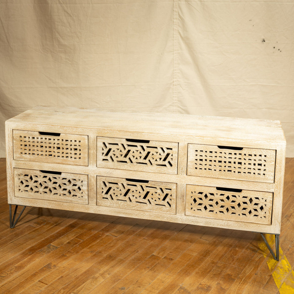 Beehive Media Cabinet, Light White_Royal Circus