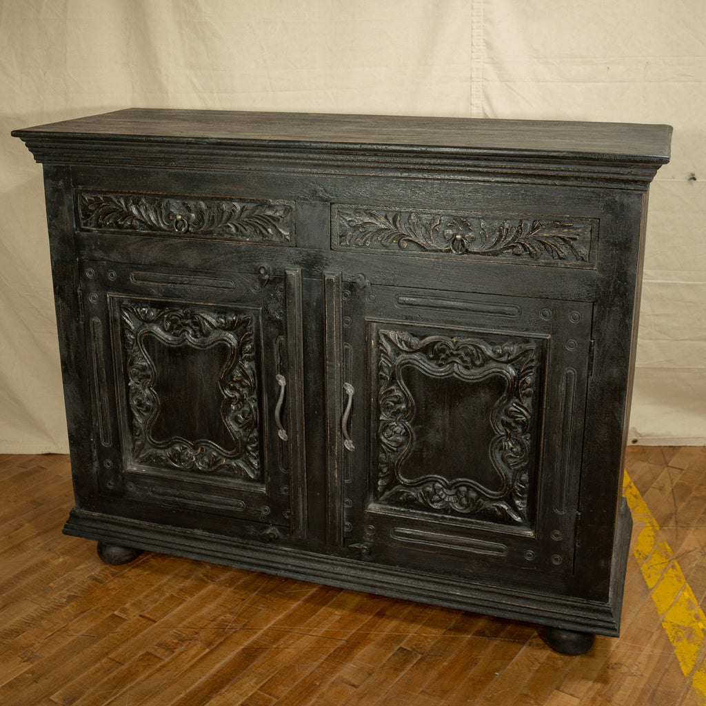 Carved Wooden Chest #2, Black_Royal Circus