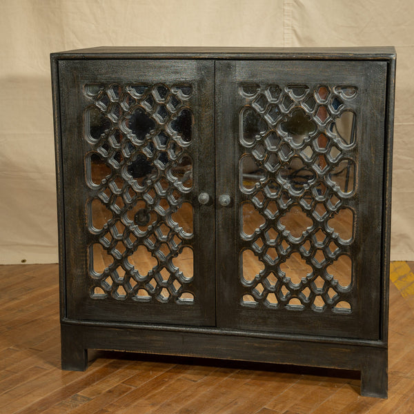 Marrakech Mirrored Cabinet, Black