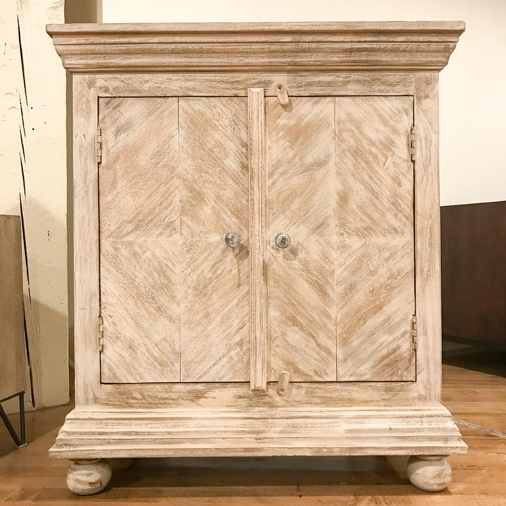 Wooden Cabinet #7, Light White_Royal Circus