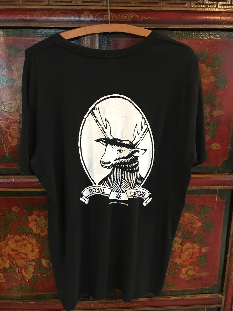 Deer Head T-Shirt (back print)_Royal Circus