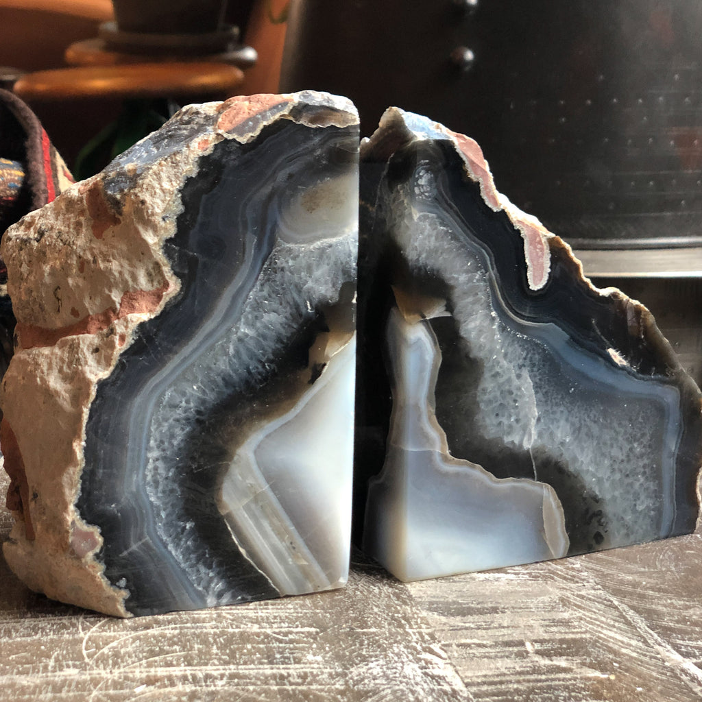 Medium Agate Bookend Pair_Royal Circus