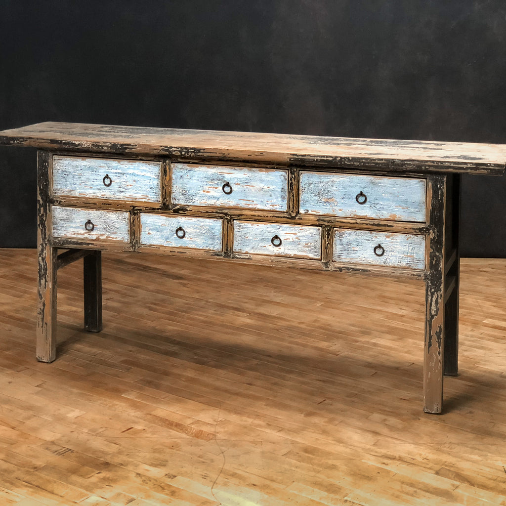Shanxi Blue Drawer Console - Royal Circus