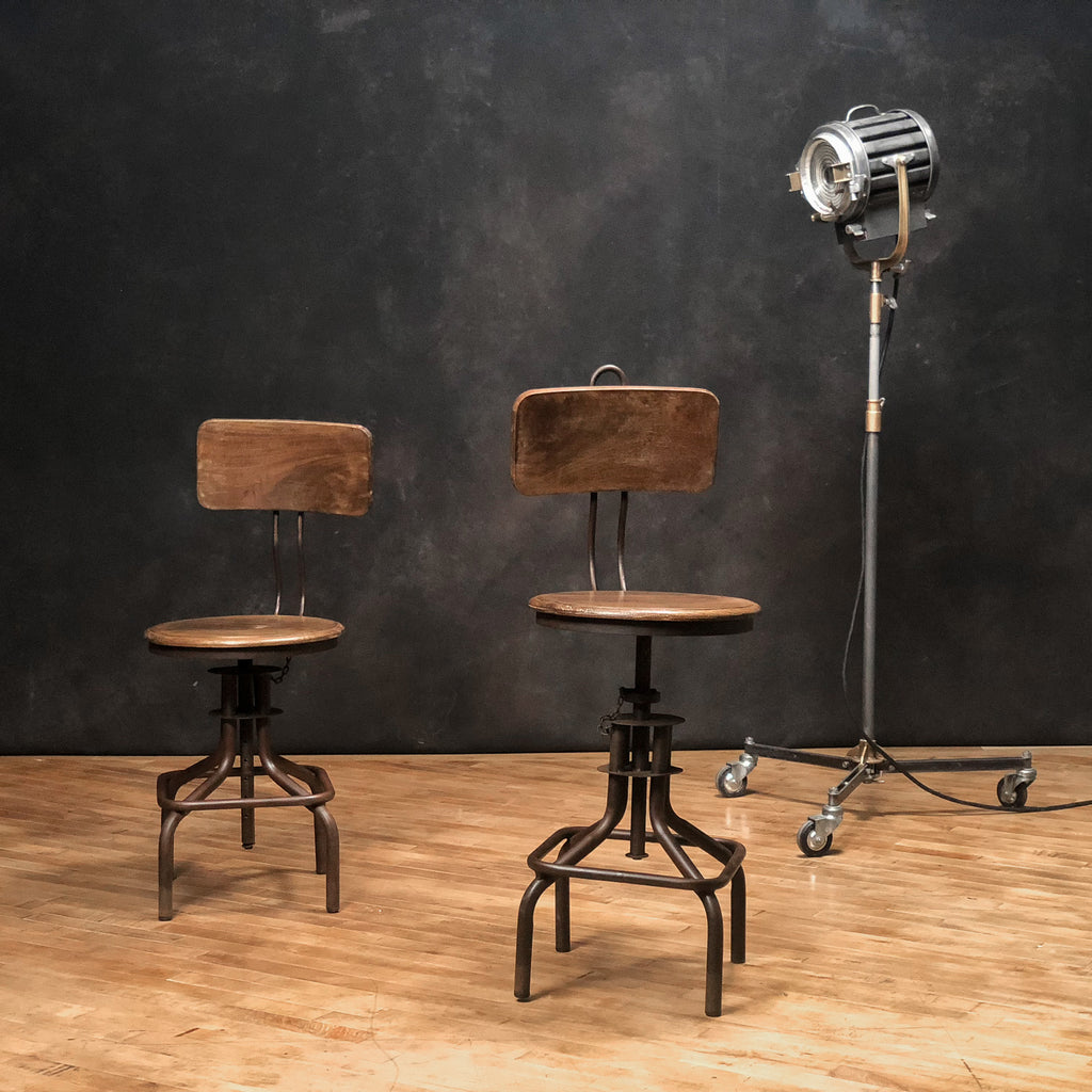 Adjustable Industrial Stool #1_Royal Circus