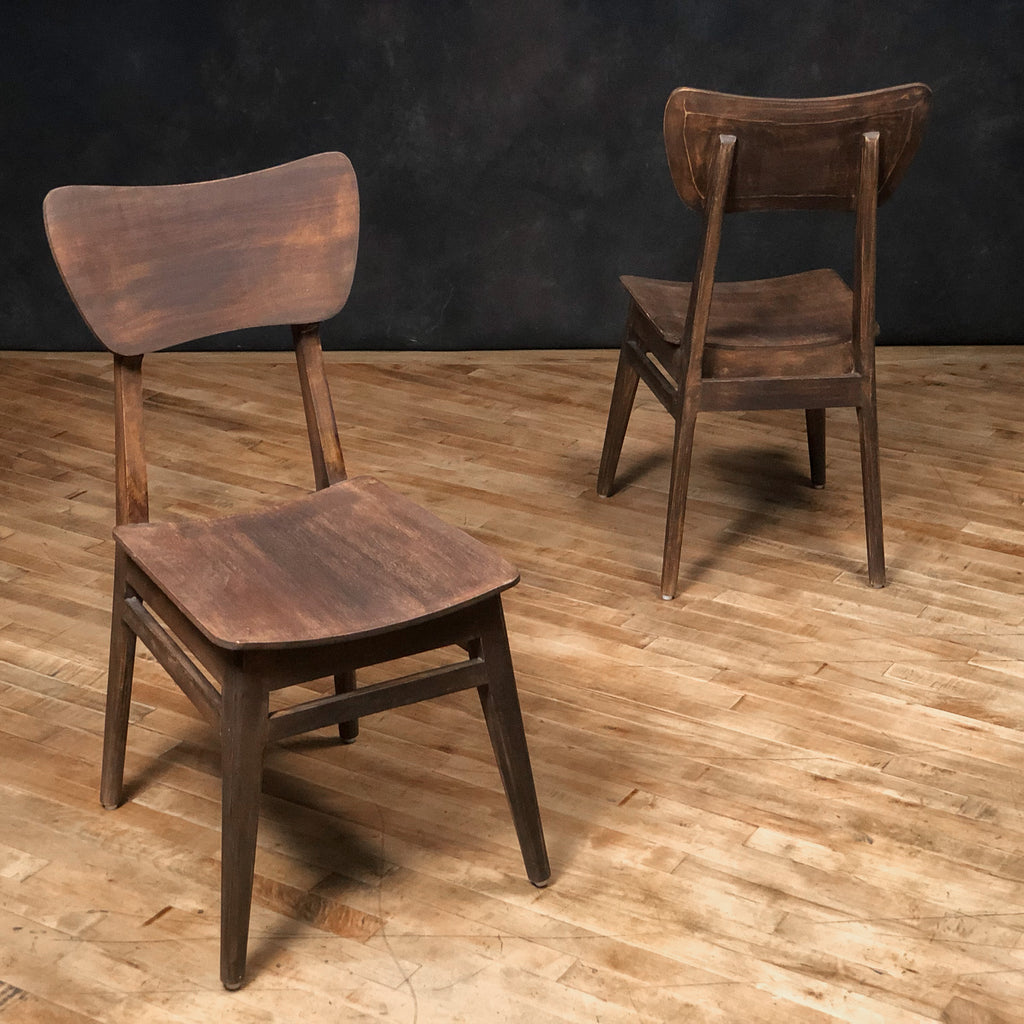 Mod-Century Wooden Chair, Dark Antique Natural - Royal Circus