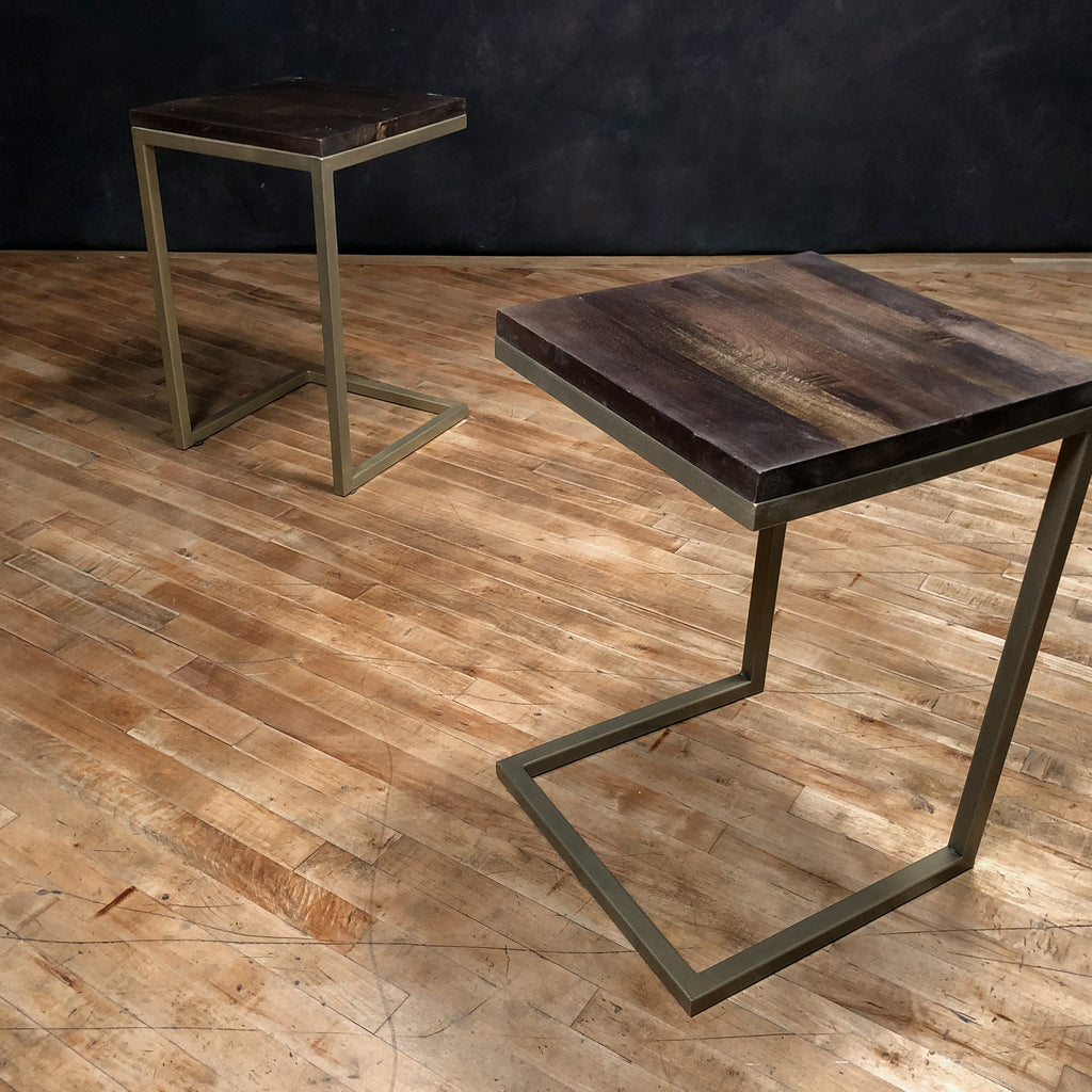Brass + Wood Side Table_Royal Circus