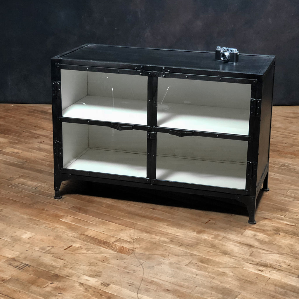 Iron + Glass Cabinet #3, Gun Metal and White_Royal Circus