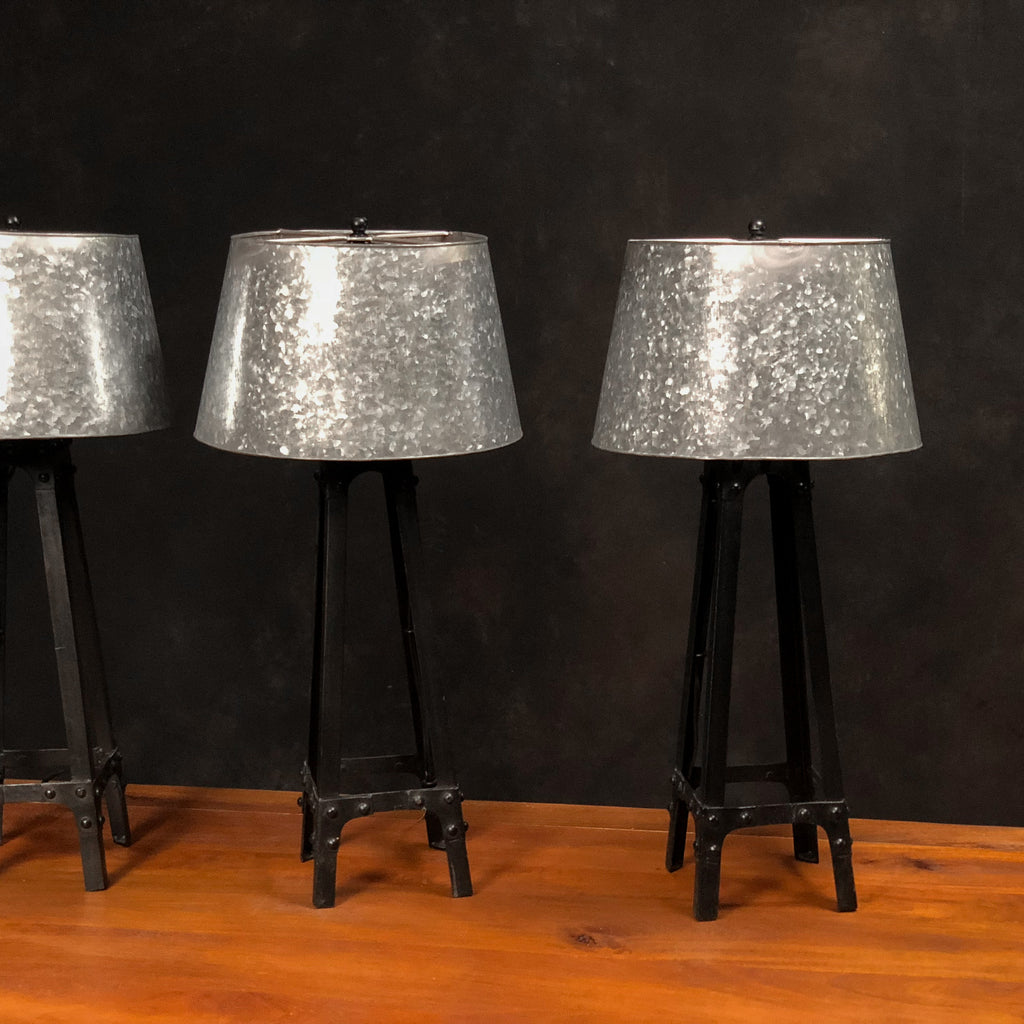 Galvanized Shade Table Lamp - Royal Circus