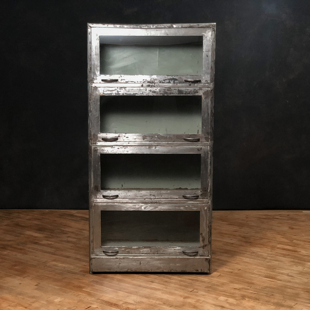 Antique Medical Cabinet, Steel + Glass_Royal Circus